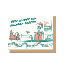 Best of Luck This Holiday Season Greeting Card
