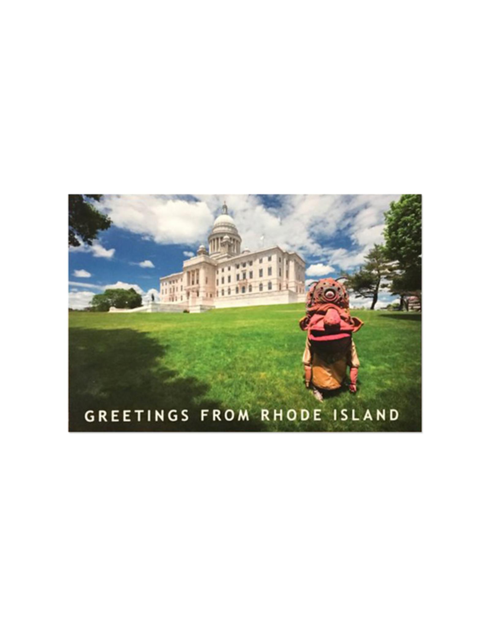 Big Nazo and State House Lawn Postcard