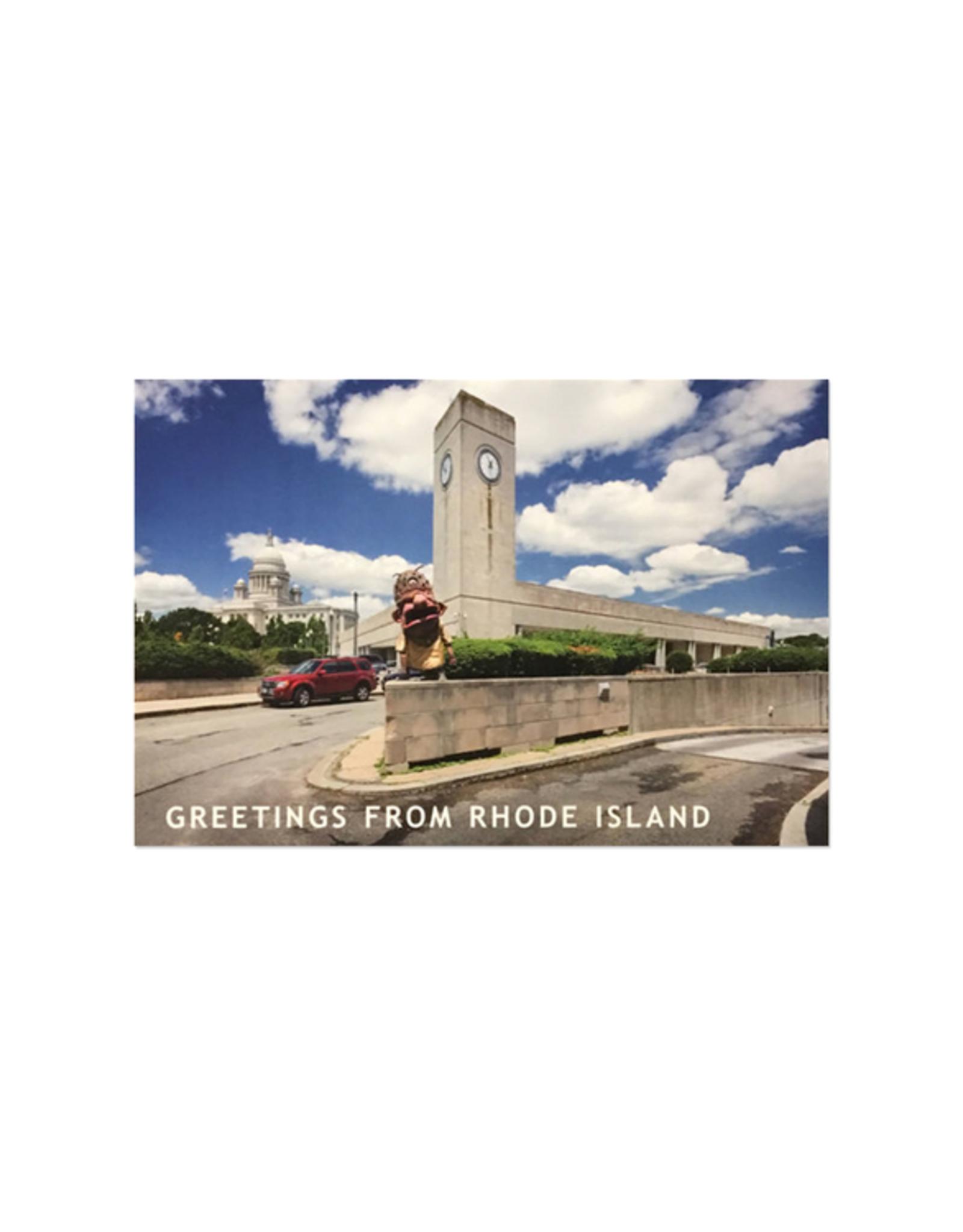 Big Nazo and Train Station Postcard