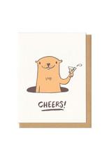 Cheers! Groundhog Greeting Card