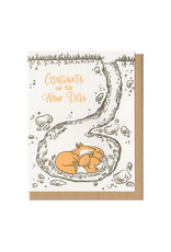 Congrats On The New Digs Foxes Greeting Card