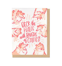 Deck the Halls with Boughs of Collies Greeting Card Box Set of 6