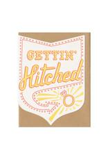 Gettin' Hitched Greeting Card - Orange