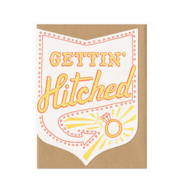 Gettin' Hitched Greeting Card - Orange