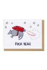 Fuck Yeah Armadillo Greeting Card
