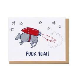 Fuck Yeah Armadillo Greeting Card