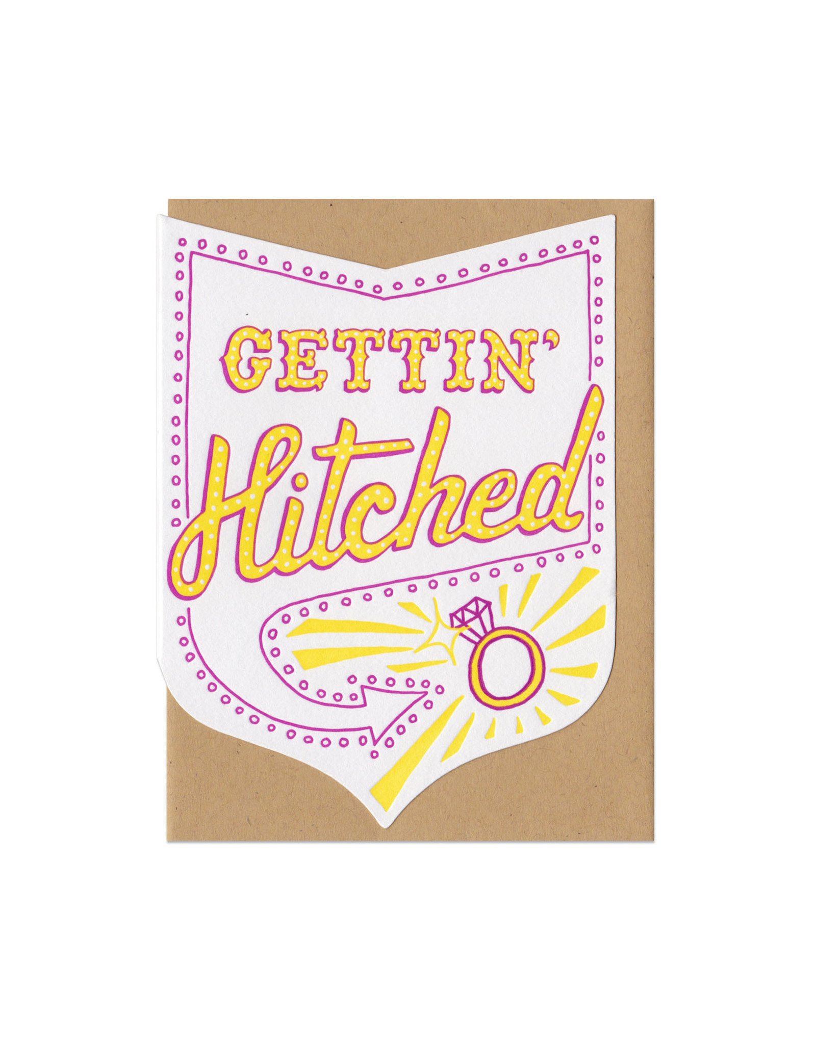 Gettin' Hitched Greeting Card - Pink