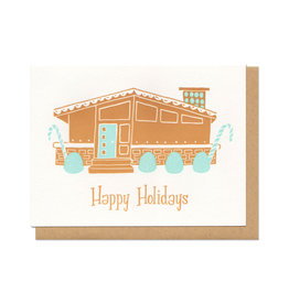 "Gingerbread House ""Happy Holidays"" Greeting Card"