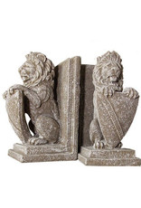 Lion Bookends - Shield