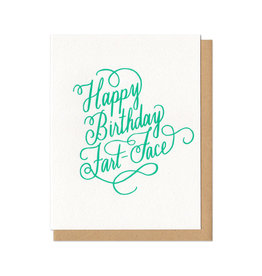 Happy Birthday Fart Face Greeting Card