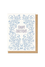Happy Birthday Skulls Greeting Card