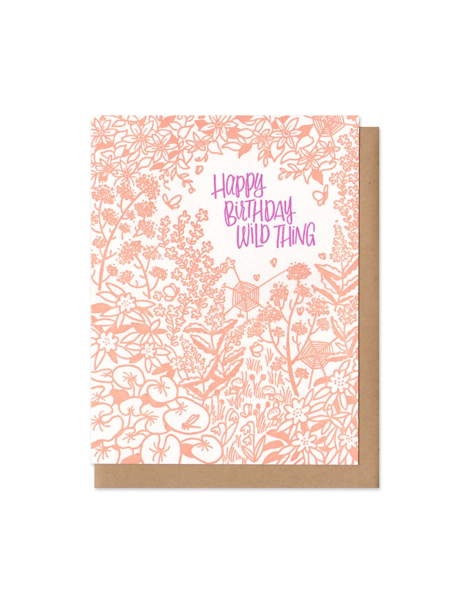Happy Birthday Wild Thing Greeting Card