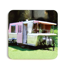 Pink/Green Trailer Coaster