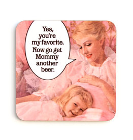 Get Mommy Beer Coaster