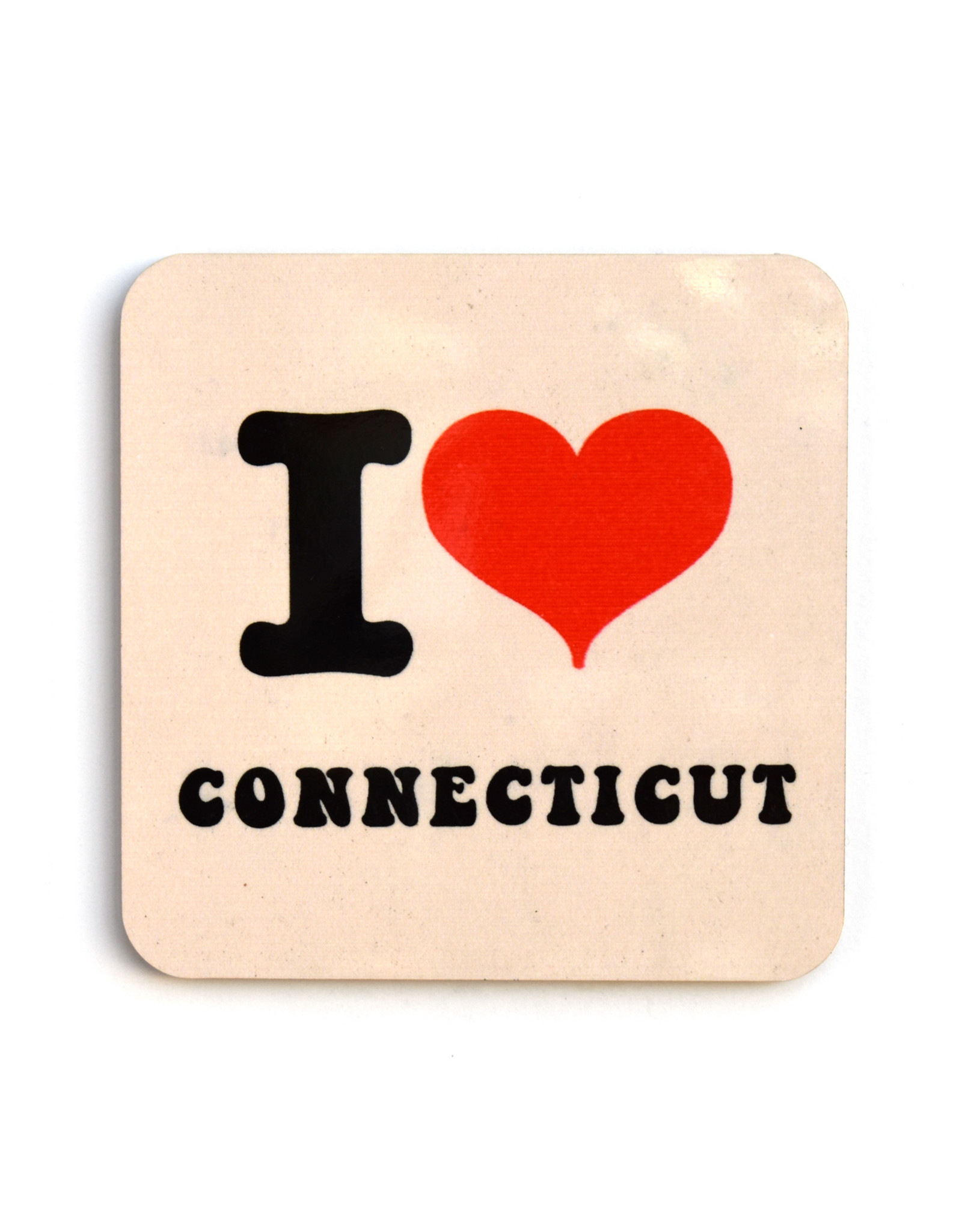 I Heart Connecticut Coaster