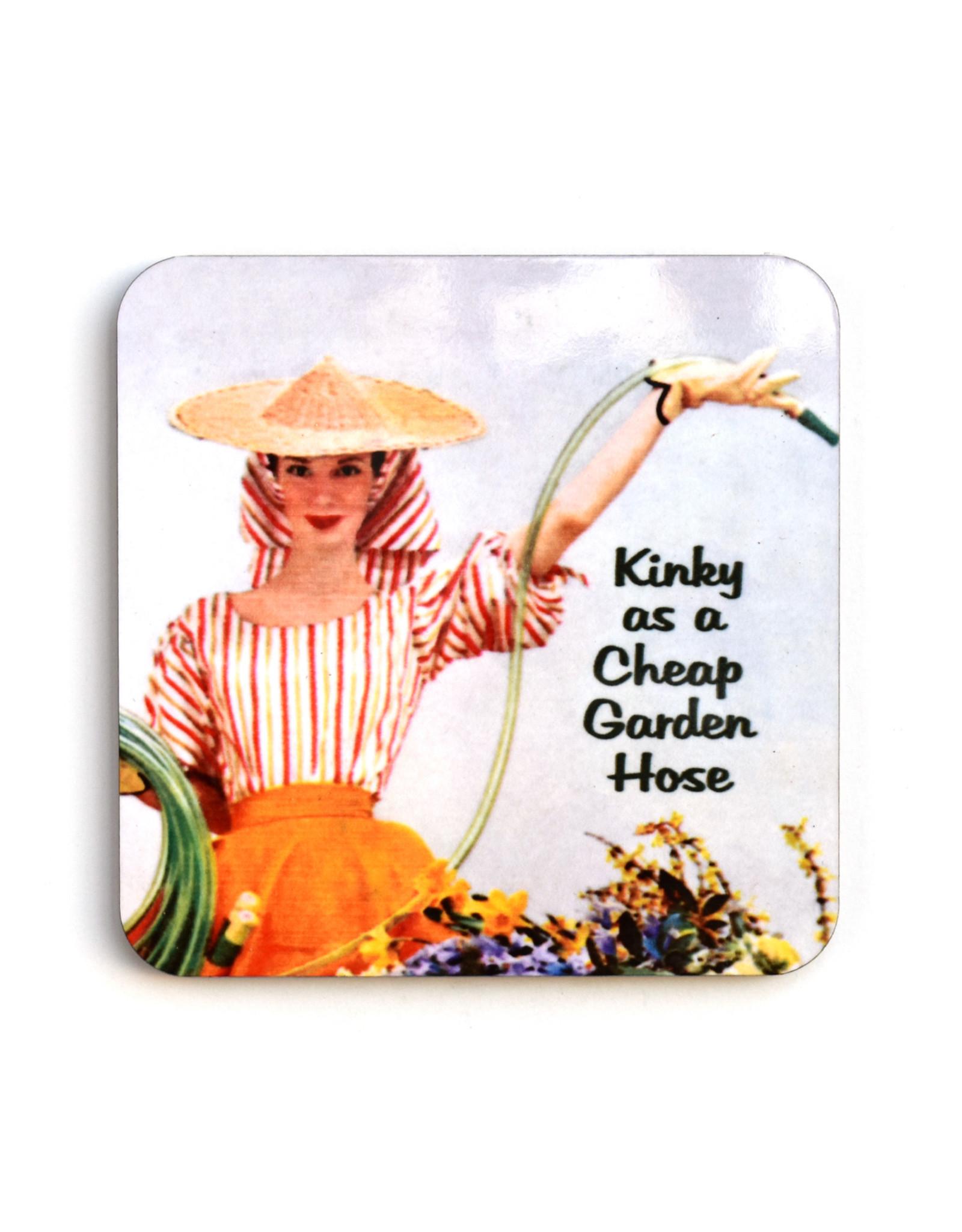 Kinky As a Cheap Garden Hose Coaster