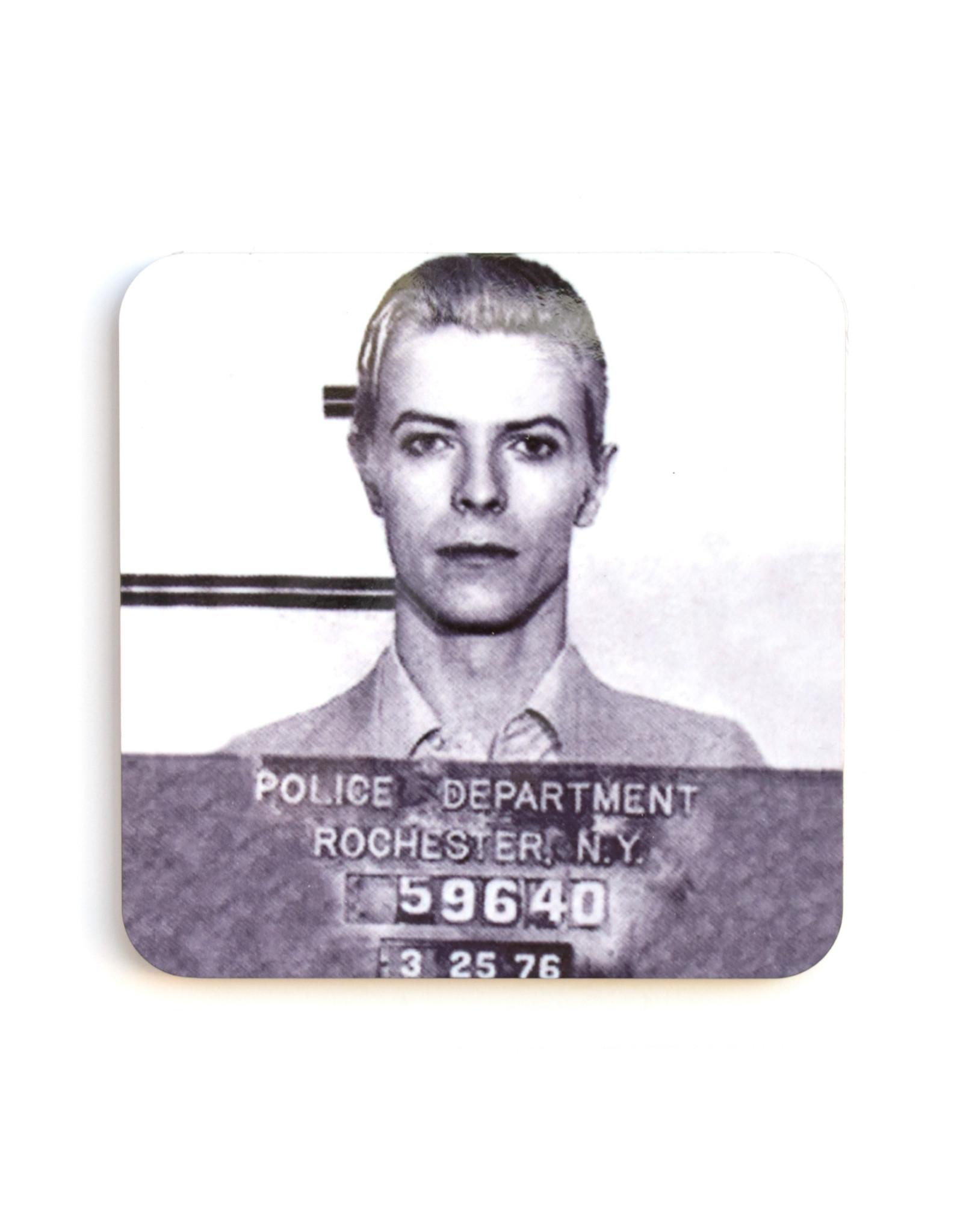 Bowie Mugshot Coaster