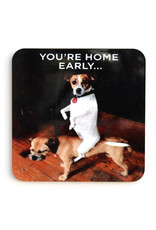 You're Home Early...Dogs Coaster
