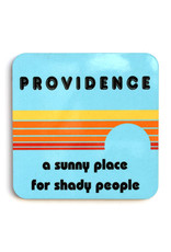 Providence: A Sunny Place for Shady People Coaster (blue)