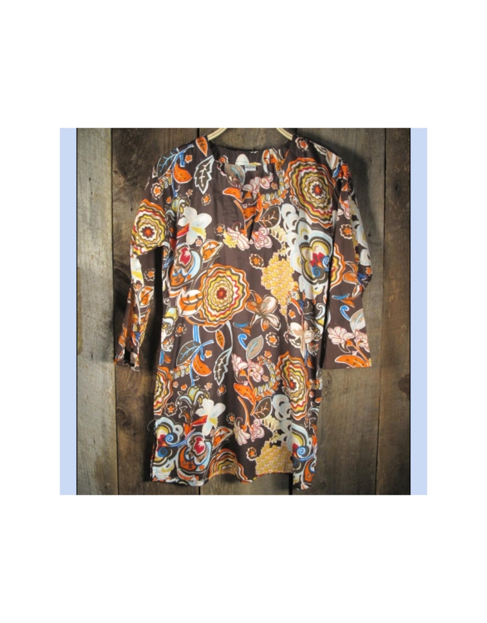 Vintage Floral Cotton Kurti