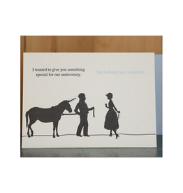 Anniversary Unicorn Greeting Card