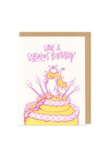 Have A Fabulous Birthday Hamster Greeting Card