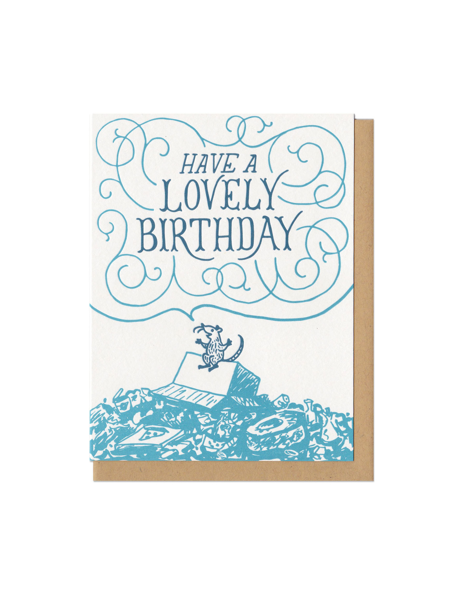 Have a Lovely Birthday Rat Greeting Card