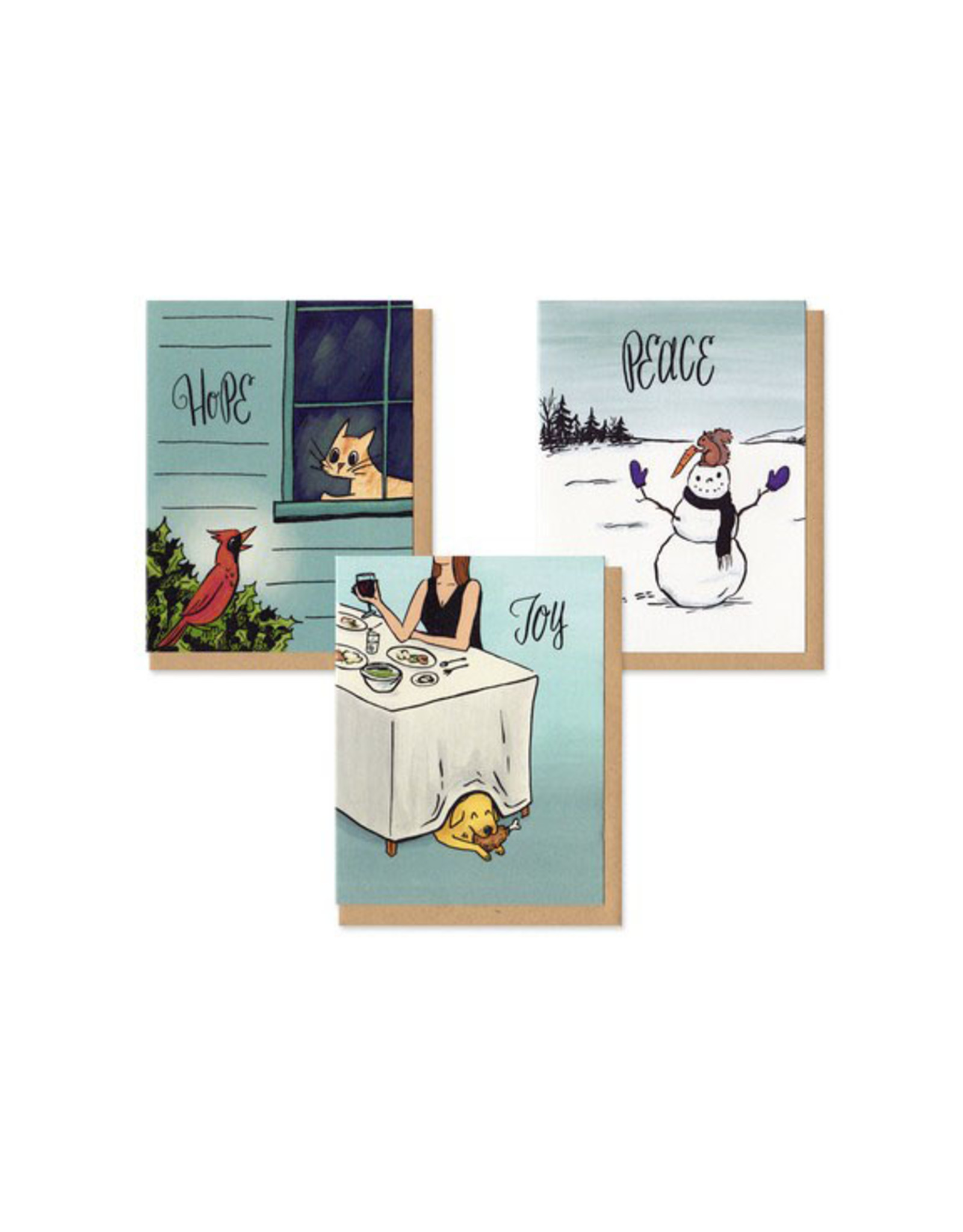 Holiday Mischief Boxed Cards Set of 9