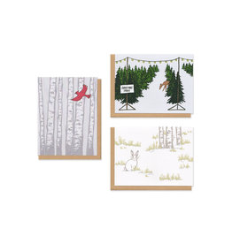 Holiday Patterns Boxed Cards Set of 9