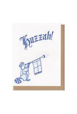 Huzzah Raccoon Greeting Card