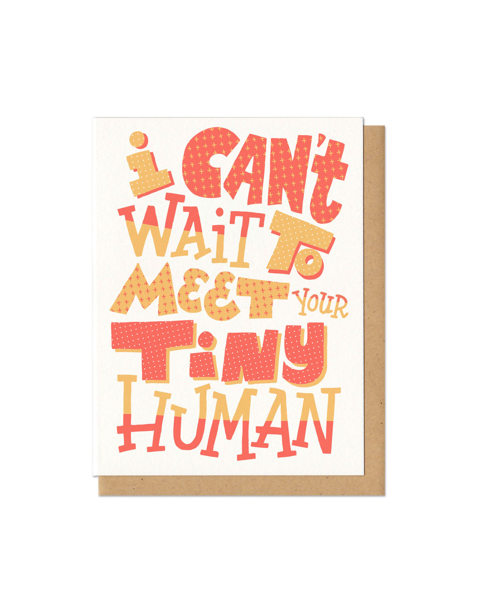 I Can't Wait to Meet Your Tiny Human Greeting Card
