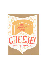 Let's Celebrate with Cheese.. (orange) Greeting Card