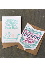 Lighter Than a Bag of Onion (teal) Greeting Card