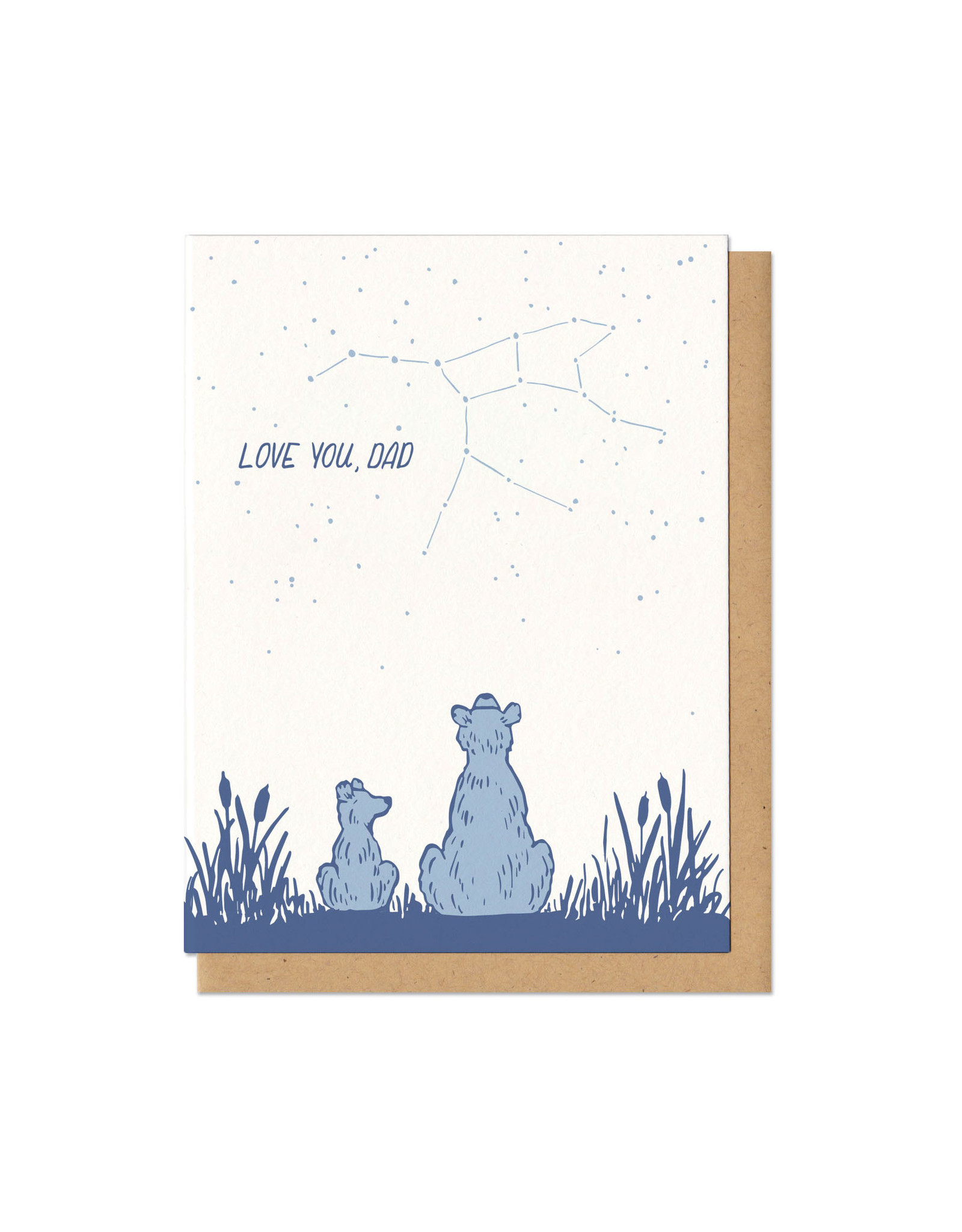 Love You Dad Bears (Blue) Greeting Card