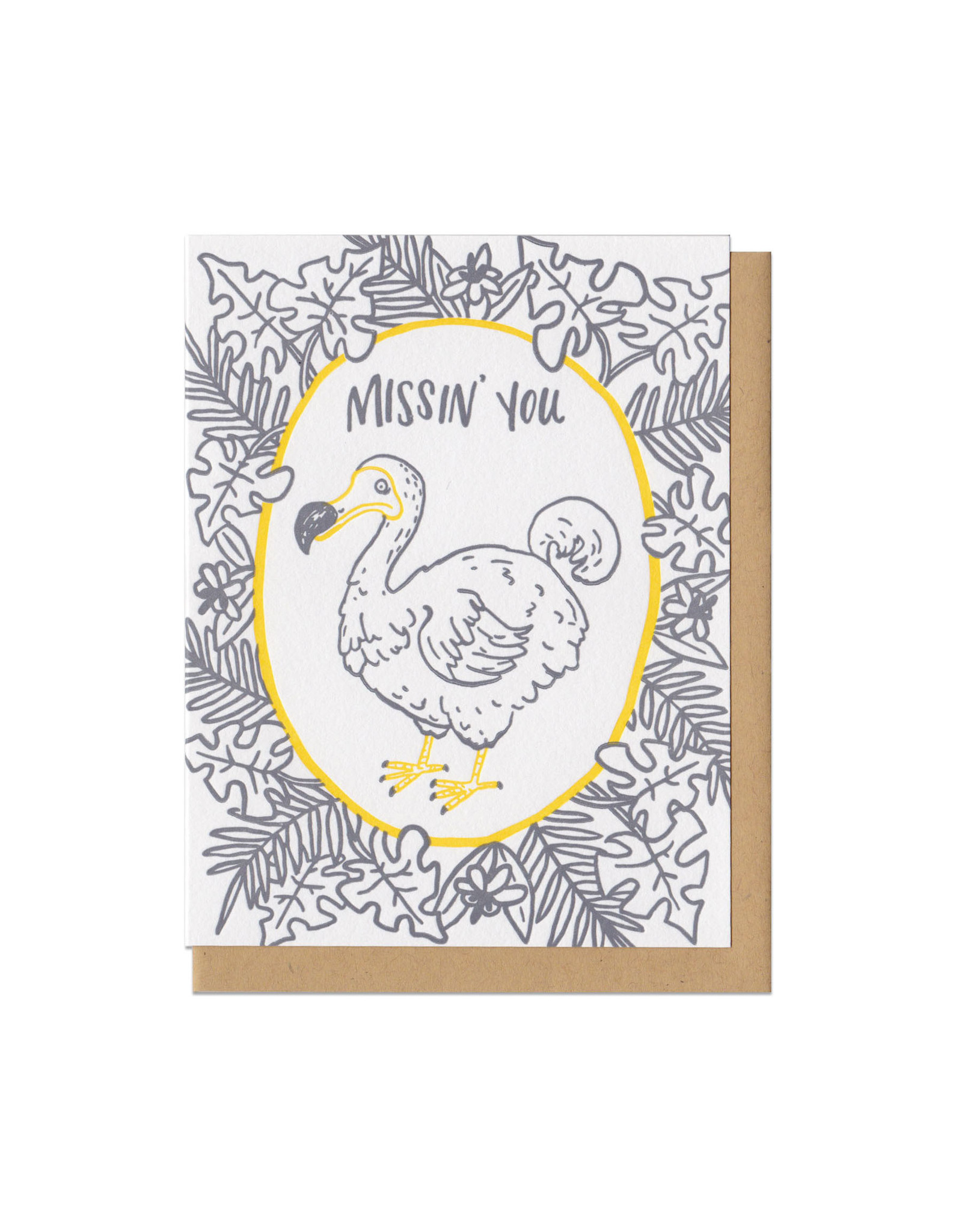 Missin' You Dodo Greeting Card