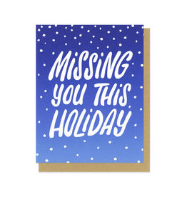Missing You This Holiday Greeting Card