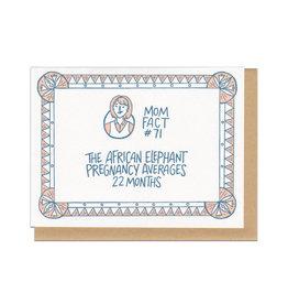 Mom Fact #71 Elephants Greeting Card