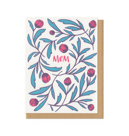Mom Flowers Greeting Card