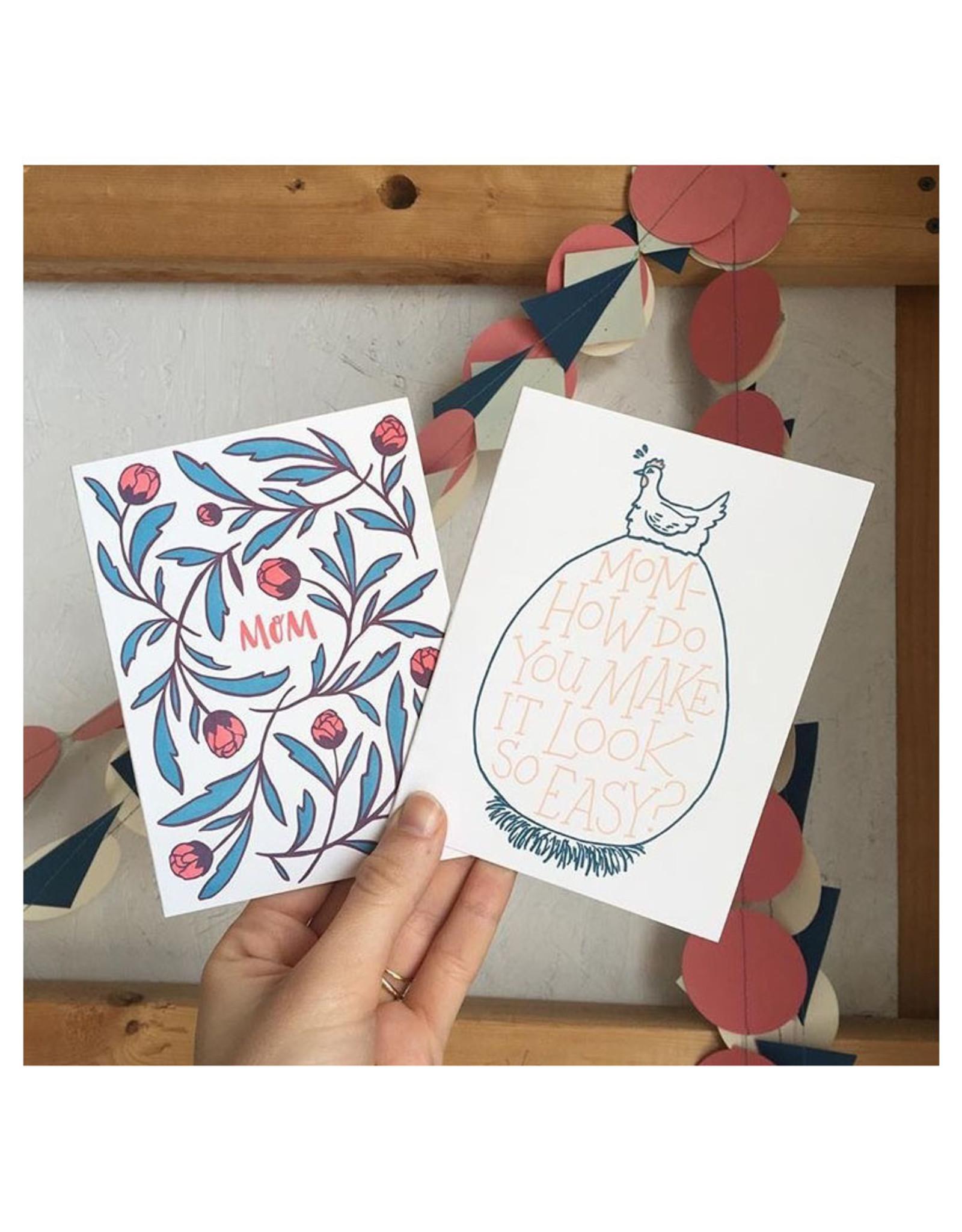 Mom Flowers Greeting Card