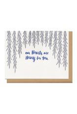Heavy Hearts (Grey) Greeting Card