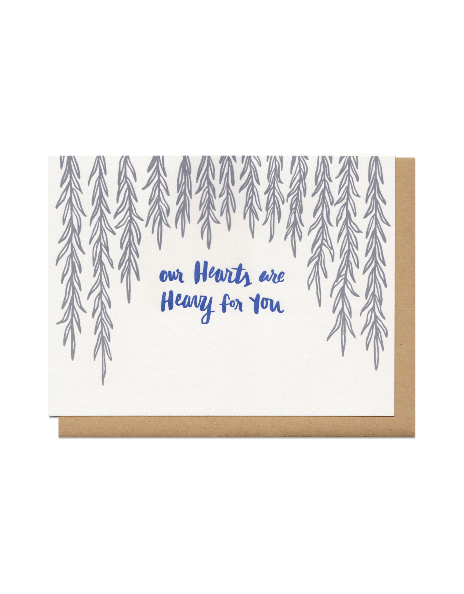 Our Hearts Are Heavy For You (grey) Greeting Card