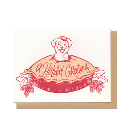 Puppy Pie Holiday Greeting Greeting Card