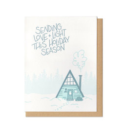 Love & Light A-Frame Greeting Card