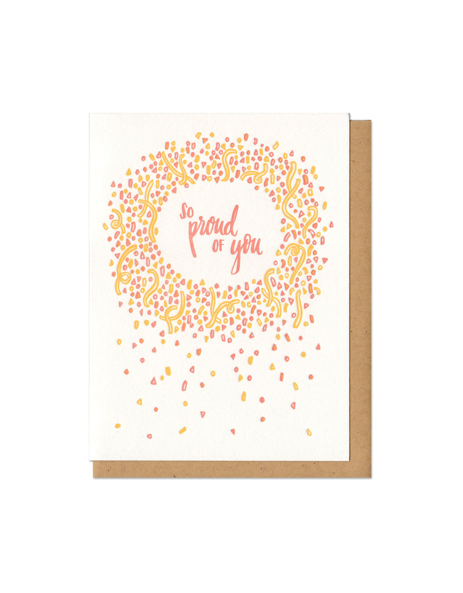 So Proud Of You (Orange) Greeting Card
