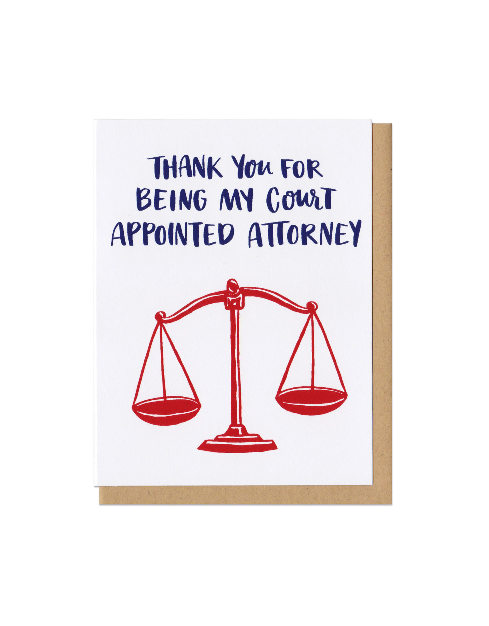 Court Appointed Attorney Greeting Card