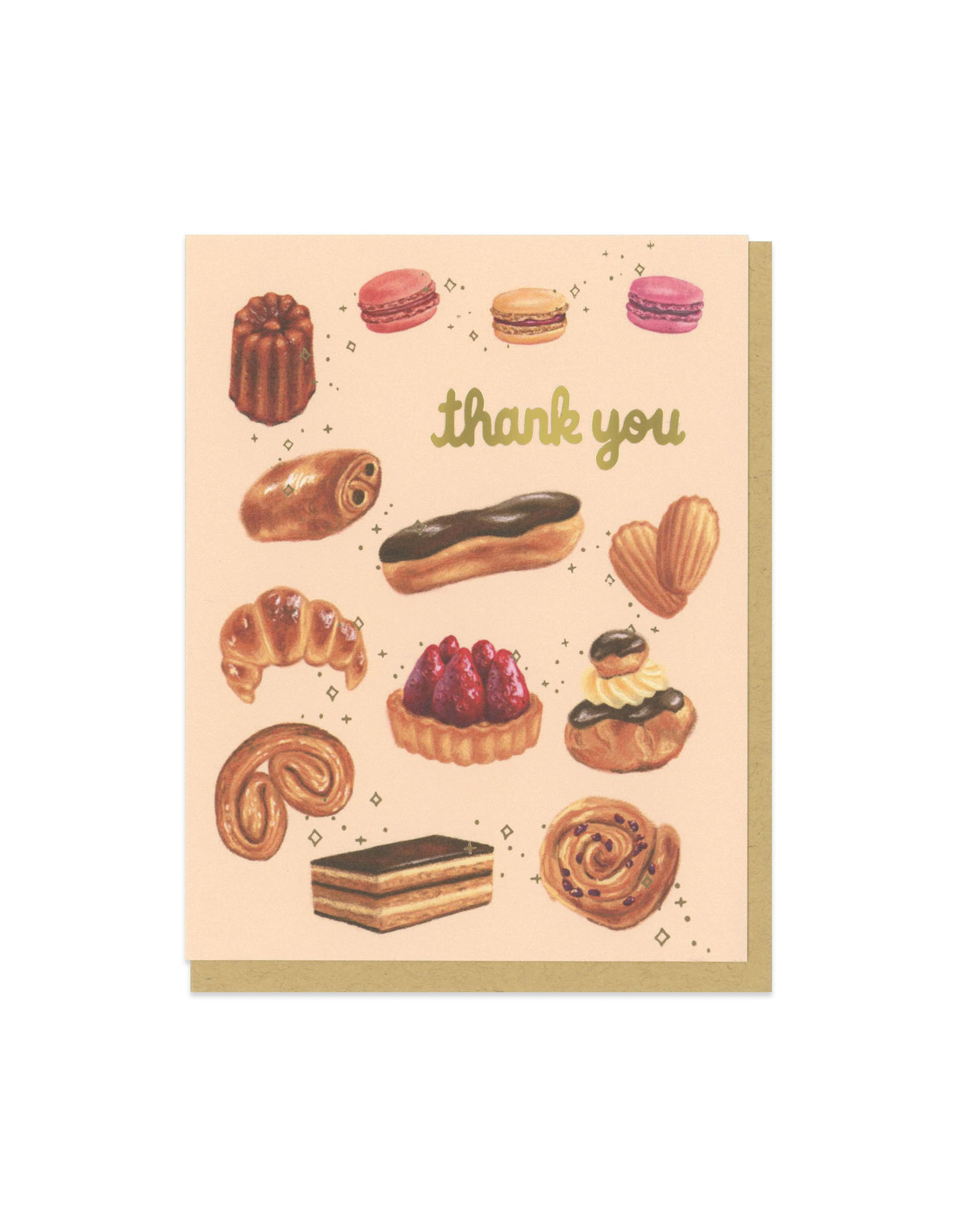 Thank You Pastries Greeting Card