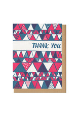 Thank You Triangles Greeting Card