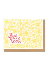Thank You x A Zillion (Yellow) Greeting Card
