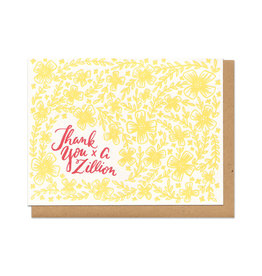 Thank You x A Zillion Greeting Card