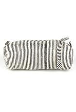 Striped Block Print Cosmetic Bag
